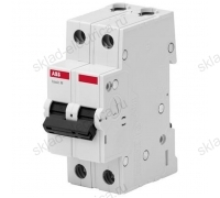 Автоматический выключатель двухполюсный 50А С ABB