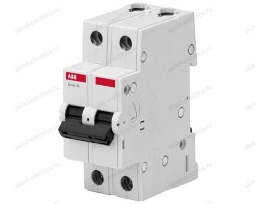 Автоматический выключатель двухполюсный 6А С ABB