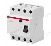 Выключатель дифференциальный четырехполюсный (УЗО) 40А 30м АС ABB