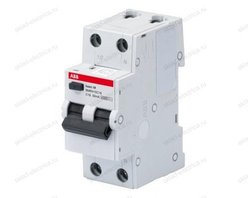 Автоматический выключатель дифференциального тока ( АВДТ ) 6А 30мА АС ABB