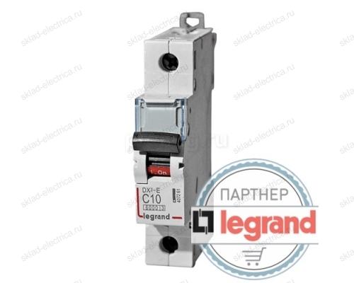 Legrand Выключатель автоматический однополюсный 10А C DX3-E 6кА (арт. 407261)