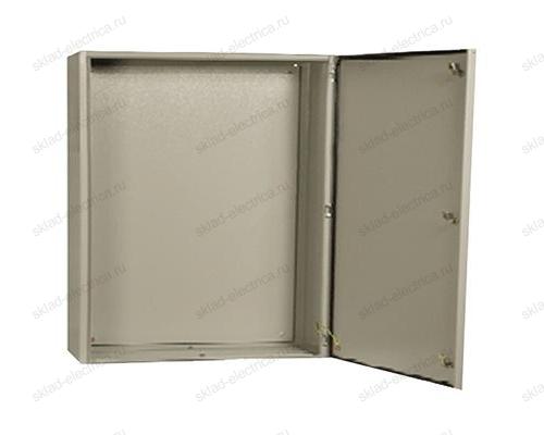 Щит металлический влагозащищенный с монтажной платой ЩМП-1-0 74 У2 IP54 395х310х220