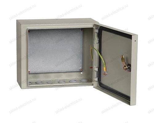 Щит металлический влагозащищенный с монтажной платой ЩМП-2.3.1-0 74 У2 IP54 250х300х150