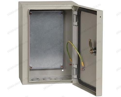 Щит металлический влагозащищенный с монтажной платой ЩМП-3.2.1-0 74 У2 IP54 300х210х150