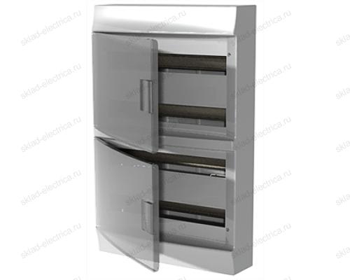 Щит АВВ распределительный навесной 72 мод. пластиковый дымчатая дверца (с клеммными блоками)