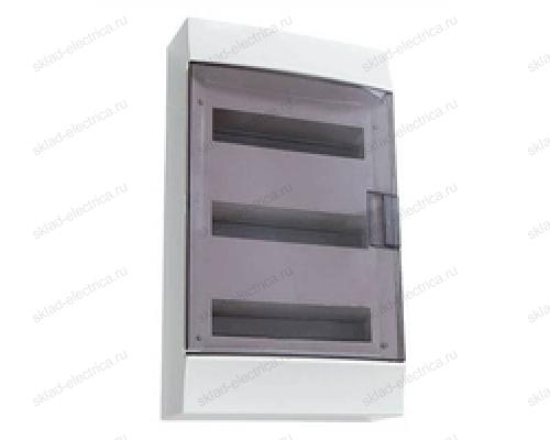Щит АВВ распределительный навесной 54 мод. пластиковый дымчатая дверца (с клеммными блоками)