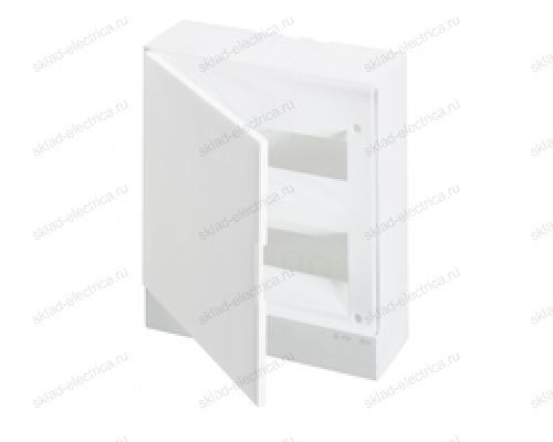Щит АВВ распределительный навесной 24 мод. пластиковый белая дверца (с клеммными блоками)