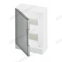 Щит АВВ распределительный навесной 16 мод. пластиковый дымчатая дверца (с клеммными блоками)