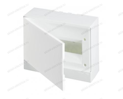 Щит АВВ распределительный навесной 12 мод. пластиковый белая дверца (с клеммными блоками)
