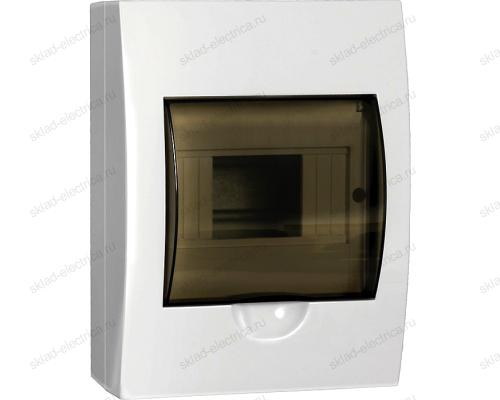 Бокс пластиковый накладной IEK ЩРН-П на 6 модулей с прозрачной дверкой