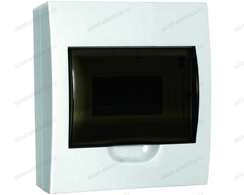 Бокс пластиковый накладной IEK ЩРН-П на 8 модулей с прозрачной дверкой