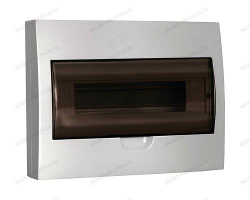 Бокс пластиковый накладной IEK ЩРН-П на 12 модулей с прозрачной дверкой