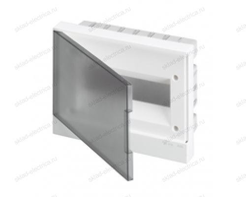 Щит АВВ распределительный встраиваемый 12 мод. пластиковый дымчатая дверца (с клеммными блоками)