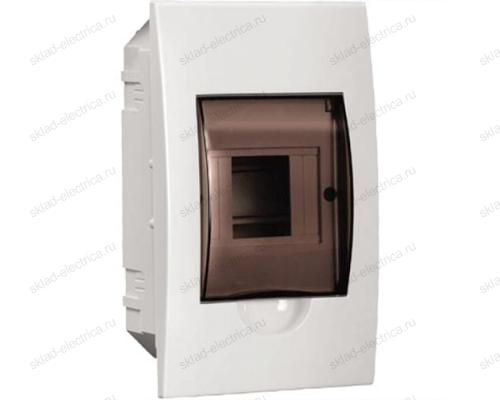 Бокс пластиковый встраиваемый IEK ЩРВ-П на 4 модуля с прозрачной дверкой