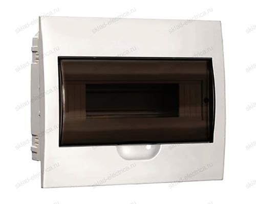 Бокс пластиковый встраиваемый IEK ЩРВ-П на 8 модулей с прозрачной дверкой