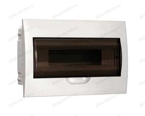 Бокс пластиковый встраиваемый IEK ЩРВ-П на 12 модулей с прозрачной дверкой