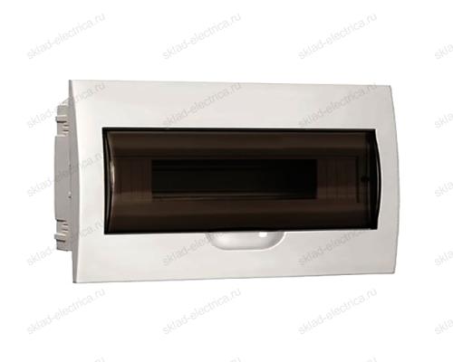 Бокс пластиковый встраиваемый IEK ЩРВ-П на 18 модулей с прозрачной дверкой