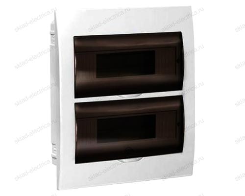 Бокс пластиковый встраиваемый IEK ЩРВ-П на 24 (2х12) модуля с прозрачной дверкой