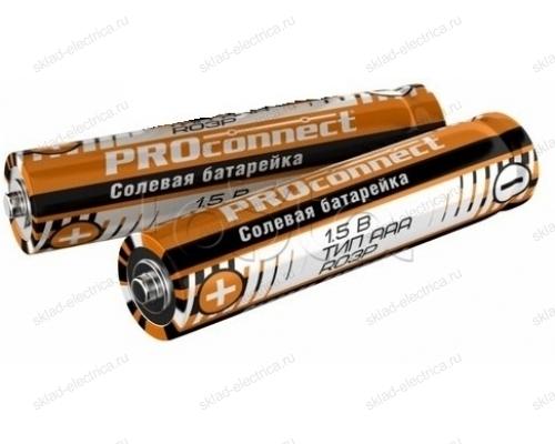 Солевая батарейка Proconnect ААА (R03P) 30-0020