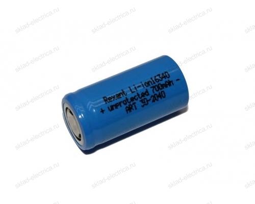 Аккумулятор Rexant Li-ion 16340 unprotected 700 mAH 3.7 В 30-2040