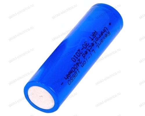 Аккумулятор Rexant 18650 unprotected Li-ion 2400 mAH 3.7 В 30-2010