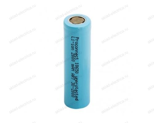 Аккумулятор Proconnect 18650 unprotected Li-ion 2000 mAH 3.7 В 30-2000