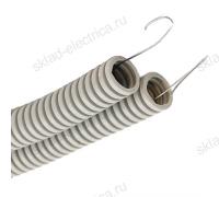 Труба ПВХ гофрированная с протяжкой 20 мм
