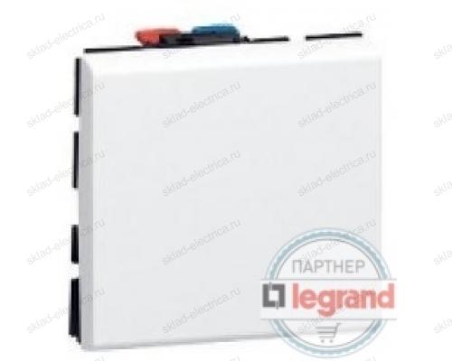 Выключатель одноклавишный 2 модуля Legrand Mosaic DLP 077010