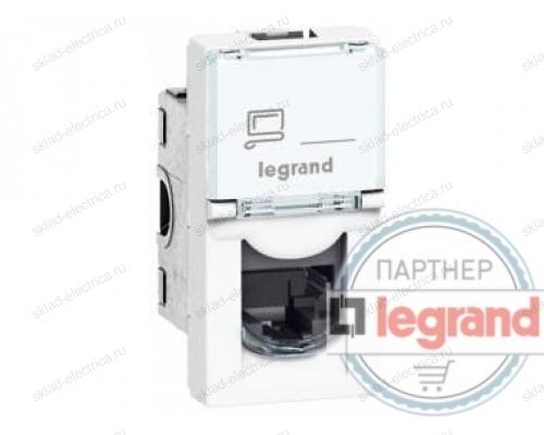 Розетка компьютерная RJ45 1 модуль Legrand Mosaic DLP 076551