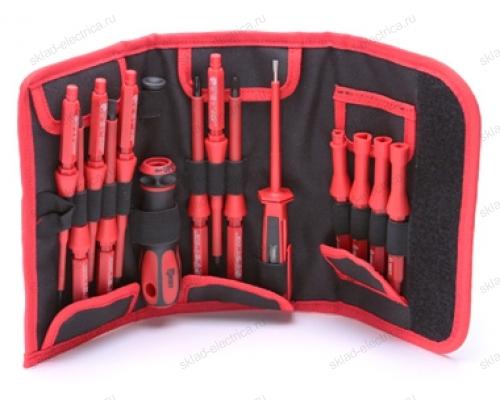 Набор диэлектрических отверток, 13 штук НИО-1113 (КВТ)
