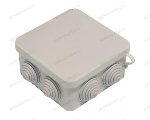 Коробка распаячная открытый провод IP55 (100х100х50 мм)