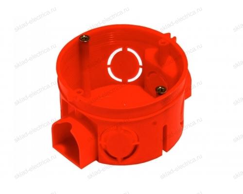 Коробка монтажная для установки в бетон, подрозетник блочный, глубина 40 мм