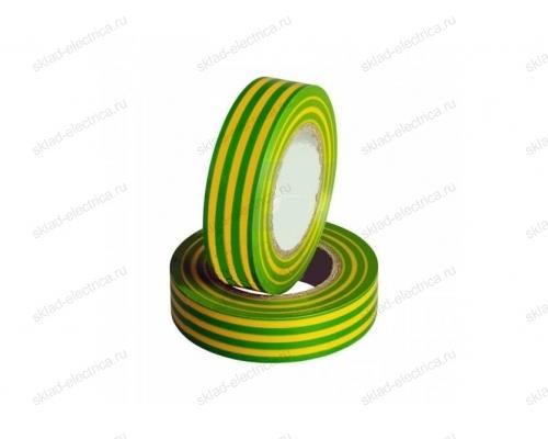 Изолента ПВХ 15мм желто-зеленая