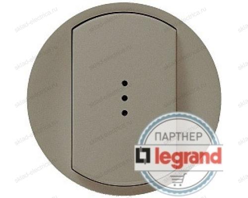 Выключатель одноклавишный c подсветкой Legrand Celiane 10А (титан) 68303 - 67002 - 67684 - 80251