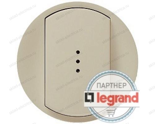 Выключатель одноклавишный (универсальный) с подсветкой Legrand Celiane 10А (слоновая кость) 66210 - 67686 - 67001 - 80251