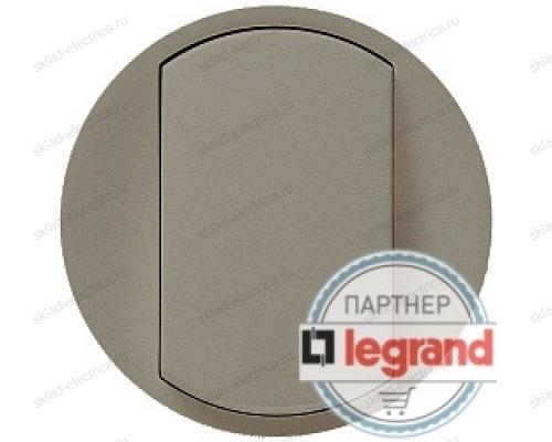 Выключатель одноклавишный перекрестный (из 3-х мест) Legrand Celiane 10А (титан) 68301 - 67005 - 80251