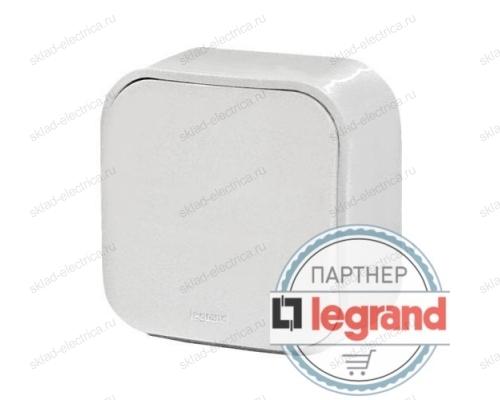 Выключатель 1-клавишный Legrand Quteo (Белый) 782200