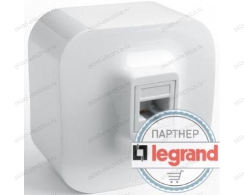 Розетка для компьютерных сетей Legrand Quteo (Белый) 782224