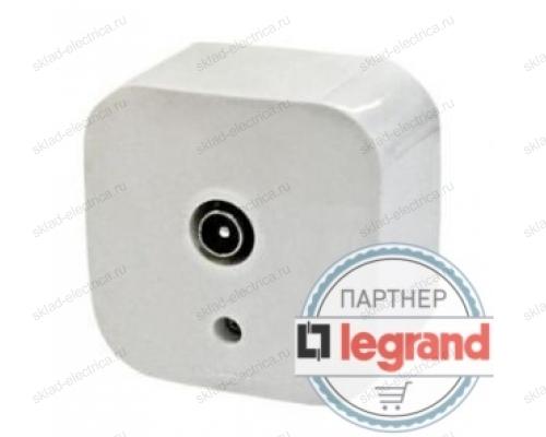 Розетка телевизионная Legrand Quteo (Белый) 782215