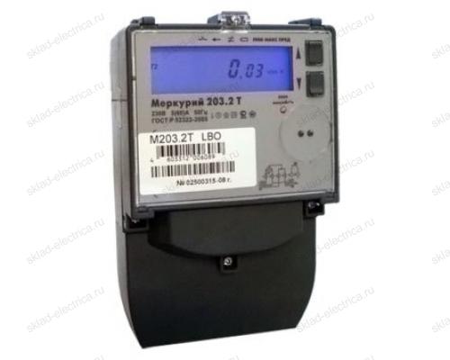 Счетчик электроэнергии Меркурий 203.2T GBО однофазный многотарифный с GSM-модемом