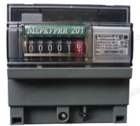 Счетчик электроэнергии Меркурий 201.6 10(80)А однофазный однотарифный на DIN-рейку