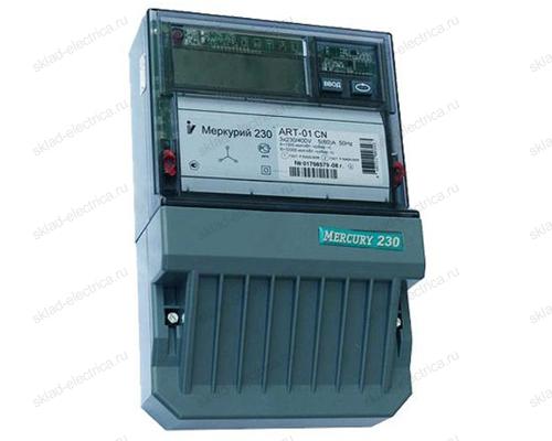 Счетчик электроэнергии прямого включения Меркурий 230 ART-01 RN 5(60)А трехфазный (380В) многотарифный, RS485