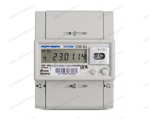 Счетчик электроэнергии однофазный многотарифный 5(60) CE102M R5 145-J ЖКИ оптопорт Энергомера