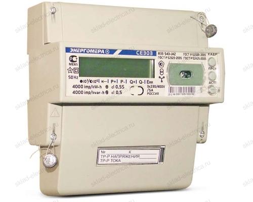Счетчик электроэнергии трехфазный многотарифный 5(10) CE303 R33 543-JАZ ЖКИ оптопорт Энергомера