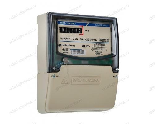 Счетчик электроэнергии трехфазный однотарифный 5(60) ЦЭ6803В 1 230В 5-60А М7 Р32 ЭМОУ Энергомера