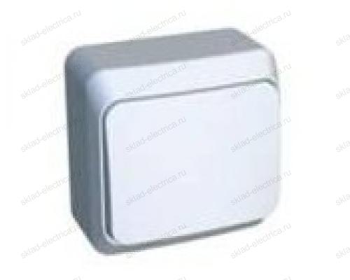 Кнопочный выключатель Этюд (Белый) KA10-001B