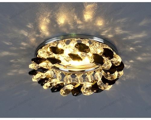 Встраиваемый потолочный светильник 206 MR16 CH/BK/CL хром/черный/прозрачный