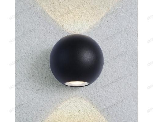 DIVER уличный настенный светодиодный светильник 1566 TECHNO LED черный