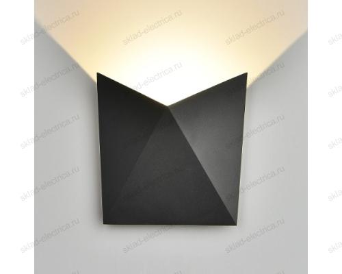 BATTERFLY уличный настенный светодиодный светильник 1517 TECHNO черный