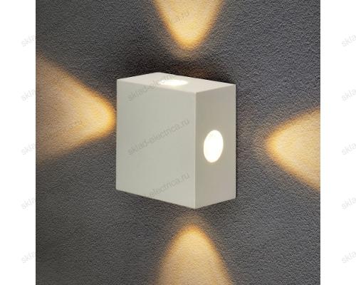 Kvatra уличный настенный светодиодный светильник 1601 TECHNO LED белый